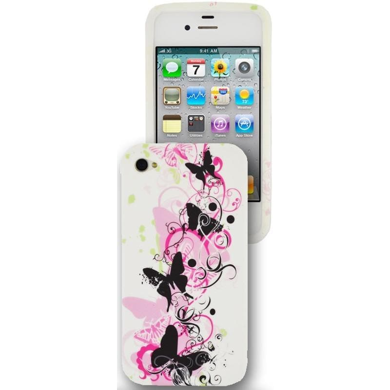 IPhone Cases - IPhone 5 - Butterfly Floral Gel Silicone Case