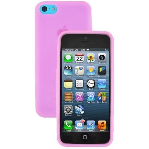 iPhone 5C - Plain Gel Soft Rubber Silicone Case Cover - Pink