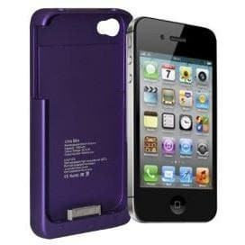 IPhone Cases - Purple 1900Mah Portable External Pack Backup Battery Charger Case For Iphone 4 4S