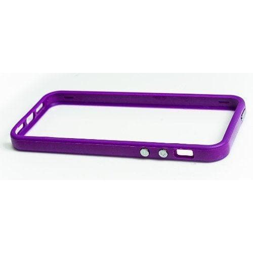 iPhone 5 / 5S / SE - Soft Rubber Silicone Edge Bumper Rim Cover Case - Purple