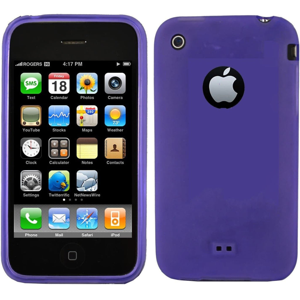 Purple iPhone 3G 3GS Silicone Case