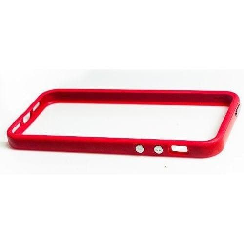 iPhone 5 / 5S / SE - Soft Rubber Silicone Edge Bumper Rim Cover Case - Red