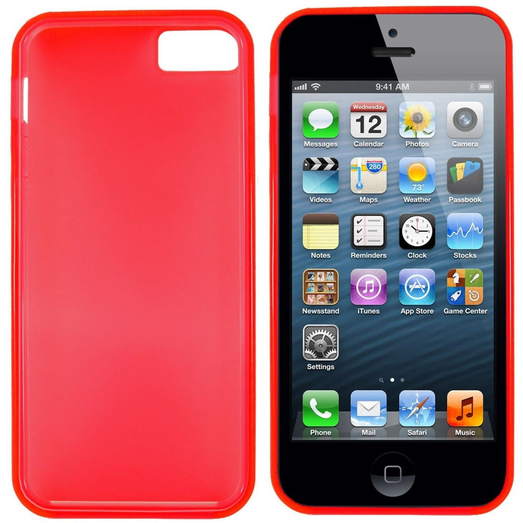 Red Hydro Gel Case Cover For iPhone 5 / 5S / SE