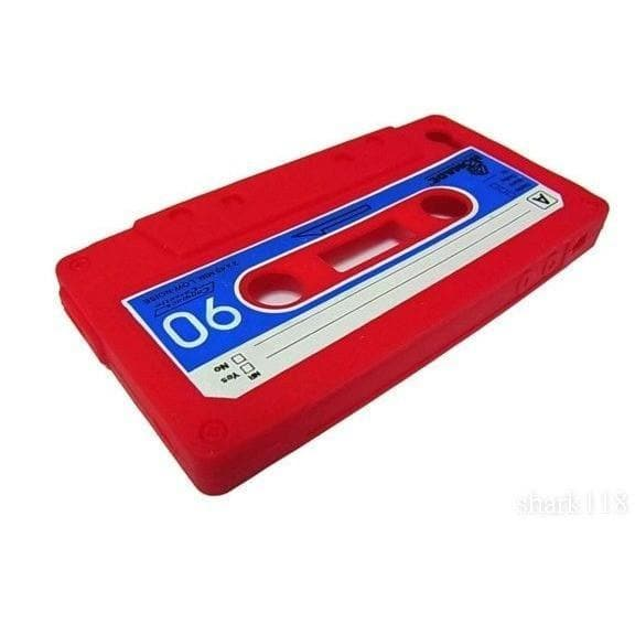 Red Retro Cassette Silicone Case For Iphone 4 4G