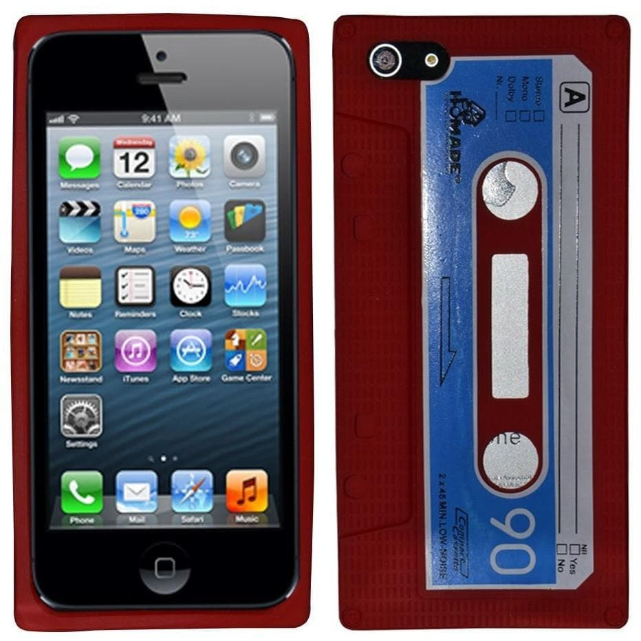 IPhone Cases - Red Retro Cassette Silicone Case For Iphone 5 5G
