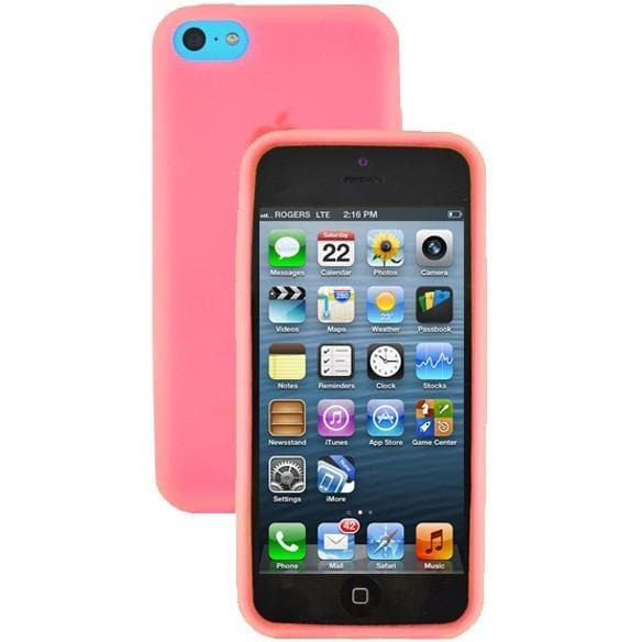 iPhone 5C - Plain Gel Soft Rubber Silicone Case Cover - Red