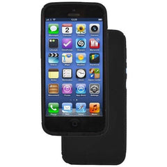 iPhone 5 / 5S / SE - S Line Gel Soft Silicone Case With Hole For Apple Logo - Black