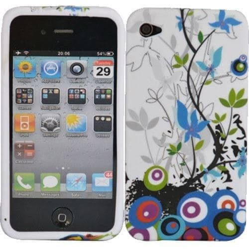 Stylish Floral Gel Silicone Rubber Case Cover Iphone 4 4S