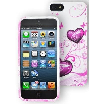 Heart Floral Gel Silicone Rubber Case Cover iPhone 5 / 5S / SE
