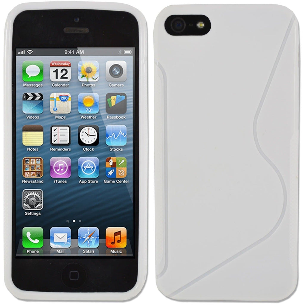 IPhone Cases - White IPhone 5 5S S Line Silicone Case