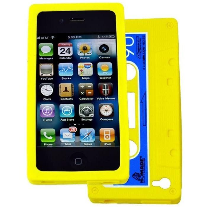 iPhone 4 / 4S - Vintage Retro Cassette Tape Case - Yellow