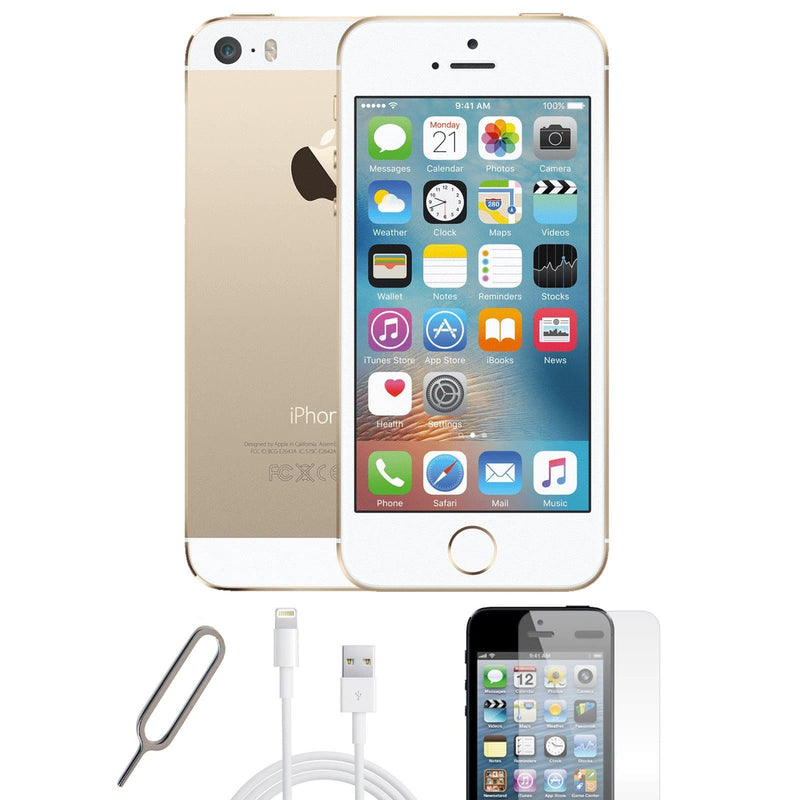 Apple iPhone 5S - Champagne Gold - (16GB) - Unlocked - Pristine Basic Bundle