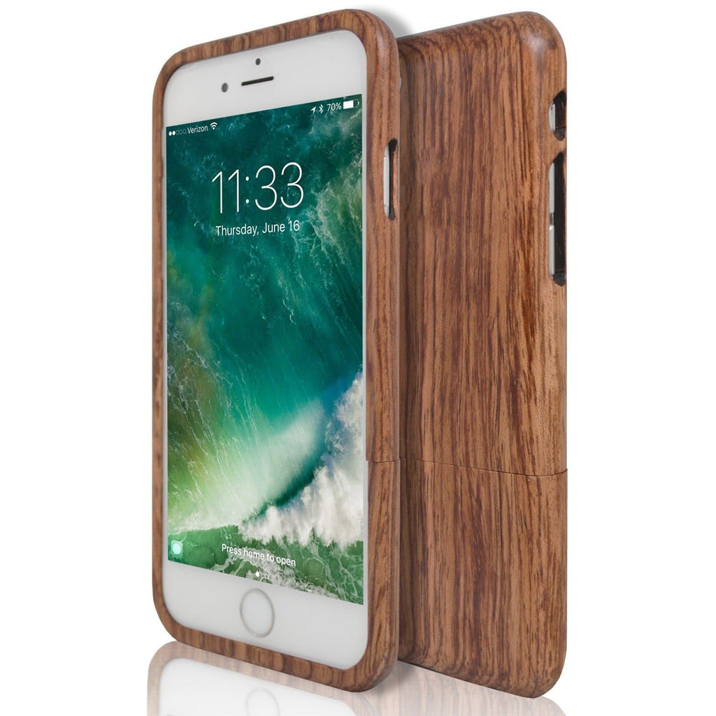 iPhone 6 / 6S Luxury Wooden Case Cover - Dark Wood