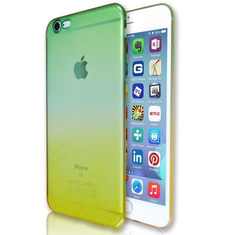 iPhone 6 Plus / 6S Plus Luxury Slim Fit Fade Case - Green / Yellow
