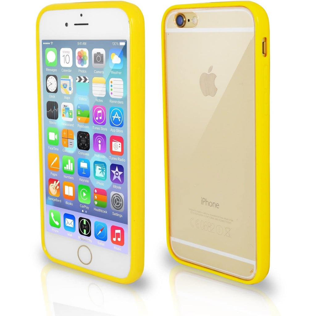iPhone 7- Bumper Clear Back Silicone Case - Yellow