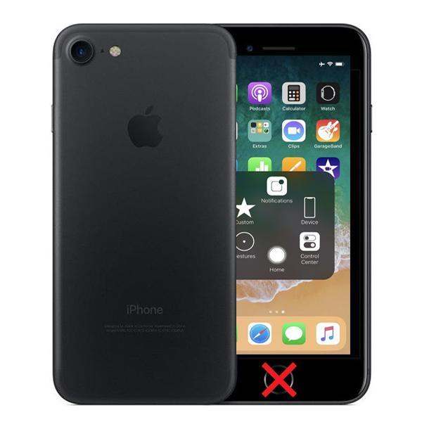 buy popular 62f9a c2f29 Apple iPhone 7 Black 32GB Unlocked - Cracked Home Button