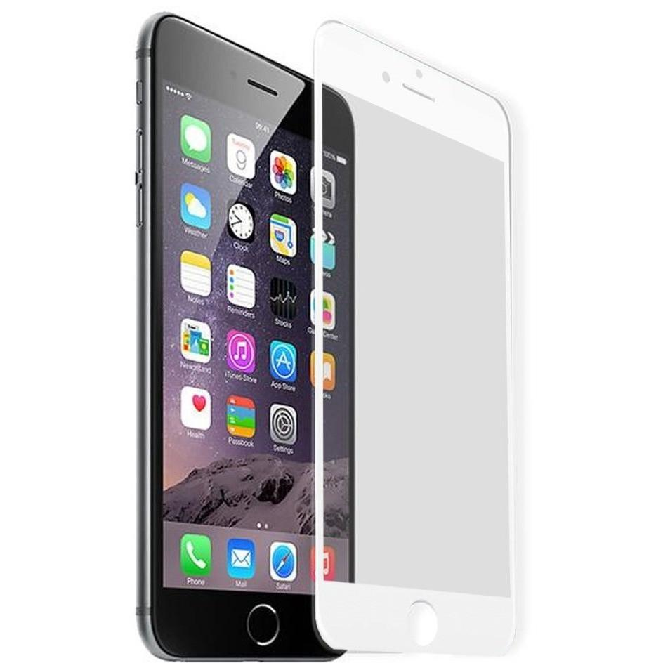 100% Genuine Tempered Glass Screen Protector - iPhone 7 - White