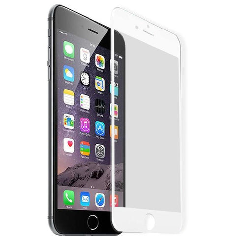 100% Genuine Tempered Glass Screen Protector - iPhone 7 Plus - White