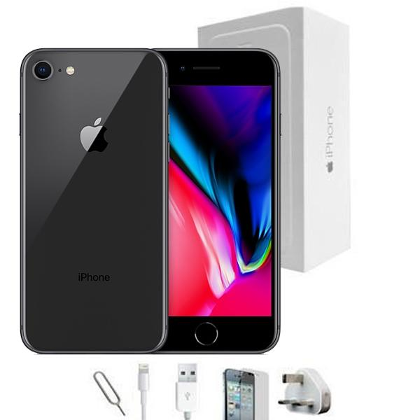 reconditioned apple iphone 7 64gb black unlocked grade a bundle. Black Bedroom Furniture Sets. Home Design Ideas