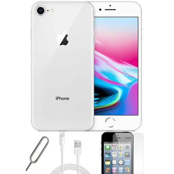 reconditioned apple iphone 8 64gb silver unlocked grade a bundle. Black Bedroom Furniture Sets. Home Design Ideas