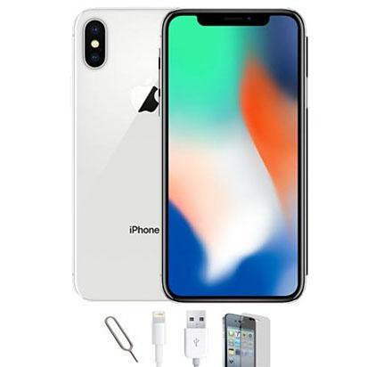 Apple iPhone X Silver (256GB) Unlocked Pristine Condition Basic Bundle