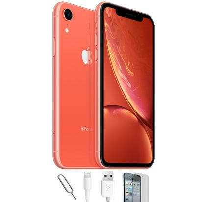 Apple iPhone XR Coral (64GB) Unlocked Pristine Condition Basic Bundle