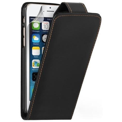 iPhone 5 / 5S / SE - Luxury Ultra Slim Magnetic Leather Flip Case Stand - Black