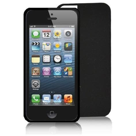 iPhone 5 - Black Silicone Rubber Anti - Dust Protective Case Cover