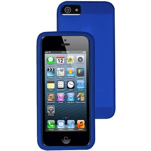 new arrival 994c7 9e6c0 iPhone 5 / 5S / SE - Plain Blue Gel Soft Rubber Silicone Case Cover