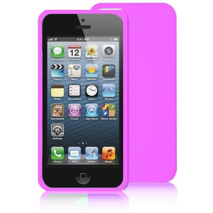 iPhone 5 / 5S / SE -Pink Slim Fitted Soft Silicone Rubber Case