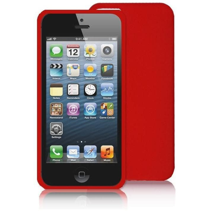 IPhones Cases - Red Silicone Rubber Case For Iphone 5 5G