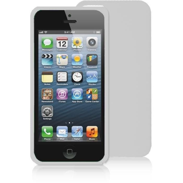 IPhones Cases - White Silicone Rubber Case For Iphone 5 5G