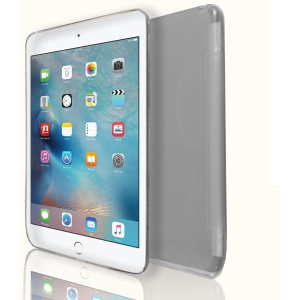 iPad Mini 4 - S Line Gel Soft Silicone Case  - Clear Transparent