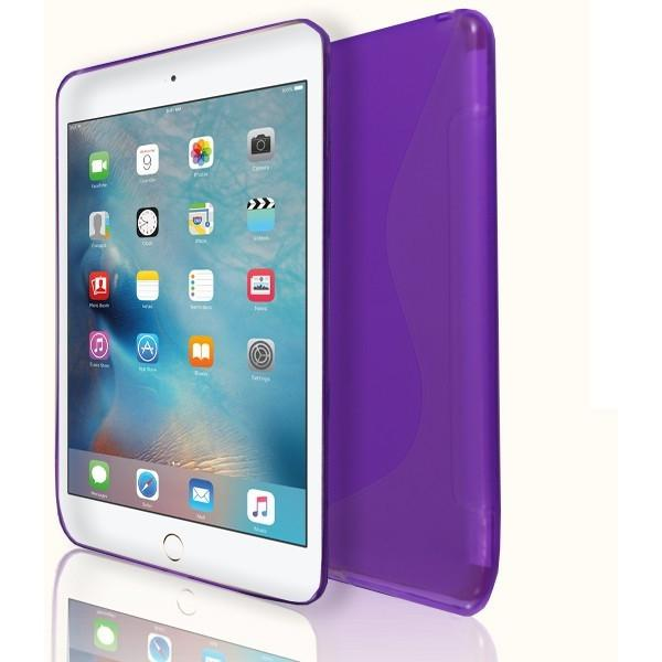 iPad Mini 4 - S Line Gel Soft Silicone Case  - Purple