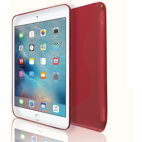iPad Mini 4 - S Line Gel Soft Silicone Case  - Red