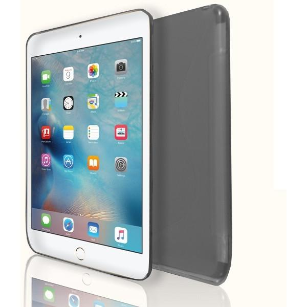 iPad Mini 4 - S Line Gel Soft Silicone Case  - Grey Smoked