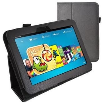 Kindle Cases - Black Kindle Fire HD PU Leather Case
