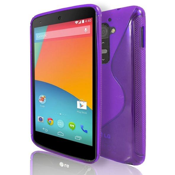 LG G2 - Purple S Line Gel Silicone Case