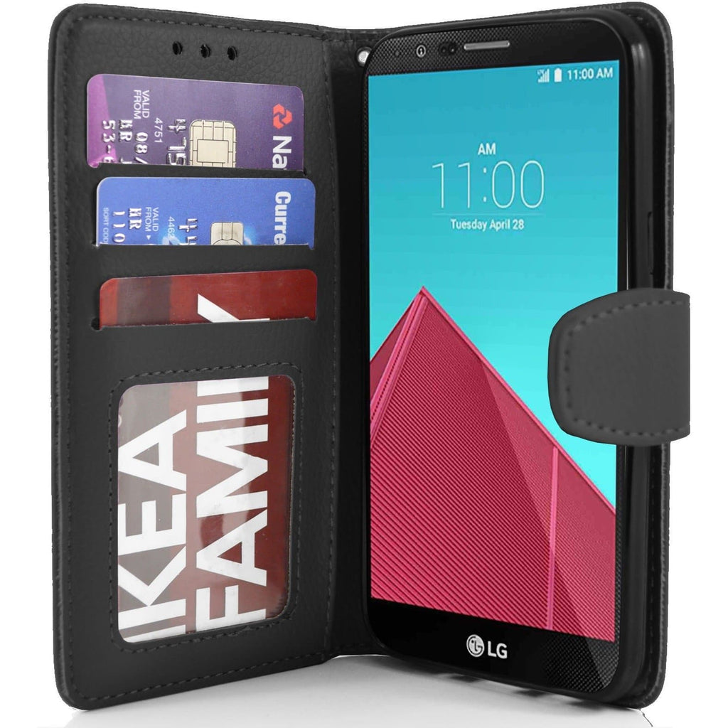 LG G4 PU Leather Wallet Case - Black