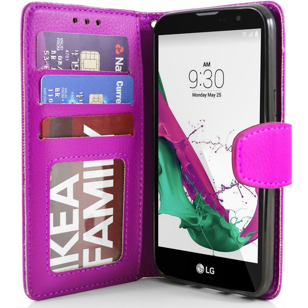 LG G4C PU Leather Wallet Case - Pink