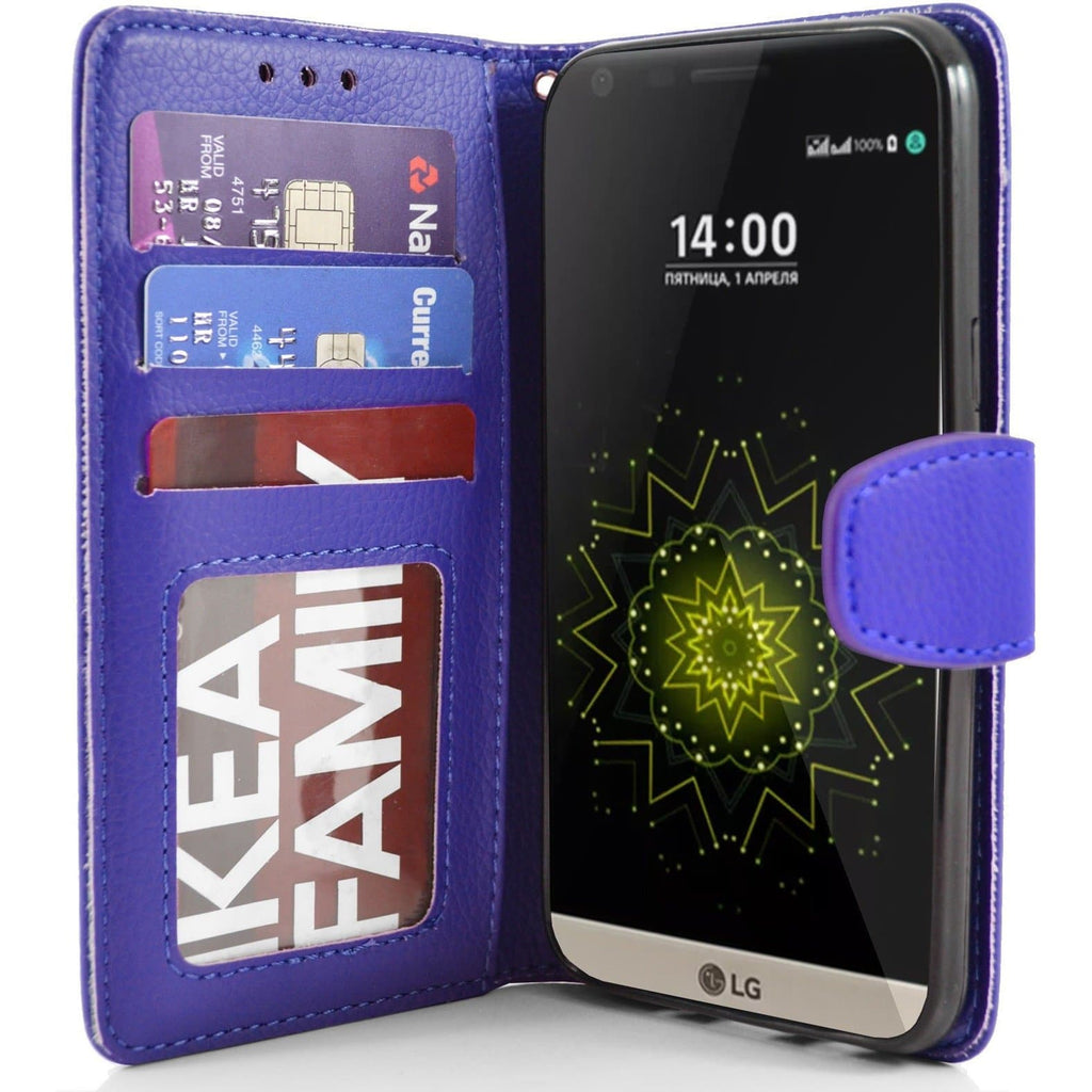 LG G5 PU Leather Wallet Case - Blue