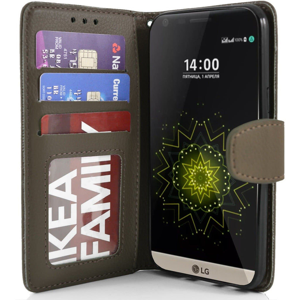 LG G5 PU Leather Wallet Case - Brown