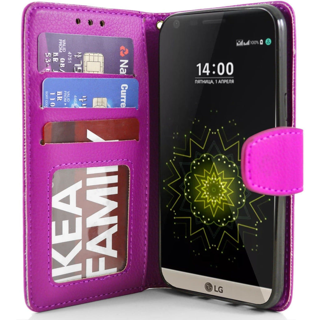 LG G5 PU Leather Wallet Case - Pink