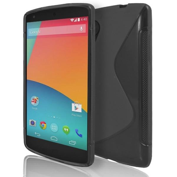 LG Nexus 5 - Black S Line Gel Silicone Case