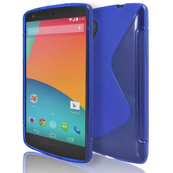 LG Nexus 5 - Blue S Line Gel Silicone Case