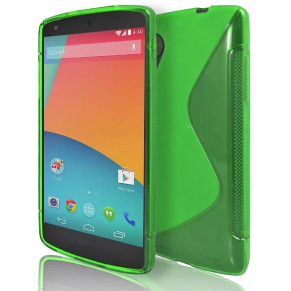 LG Nexus 5 - Green S Line Gel Silicone Case