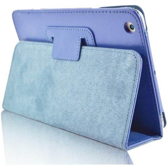 iPad 2 / 3 / 4 - Flip Stand Protective Leather Case - Light Blue