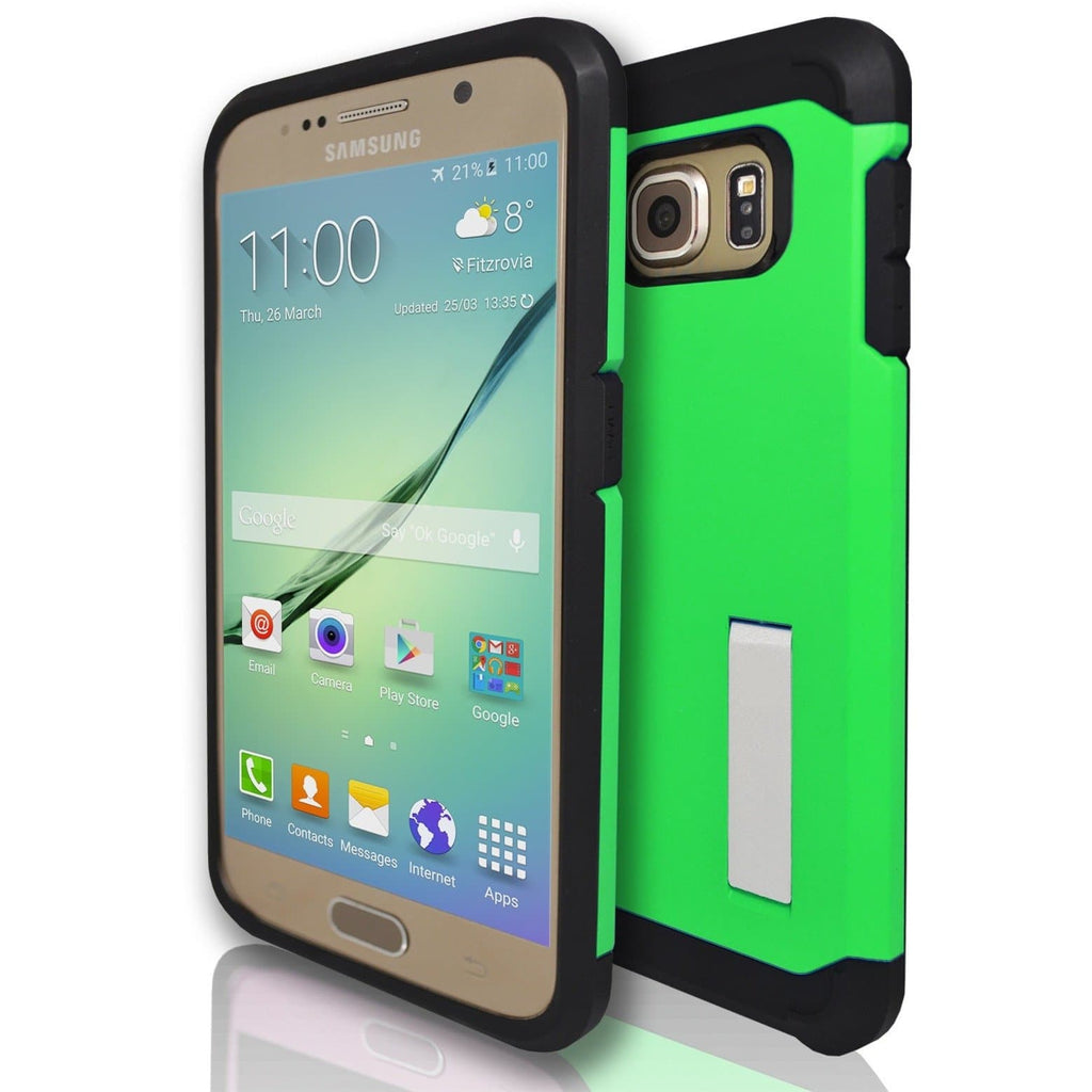 Samsung Galaxy S6 Silicone Armour Case - Green