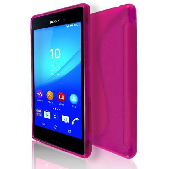 Sony Xperia M4 Aqua - Pink S Line Gel Silicone Case