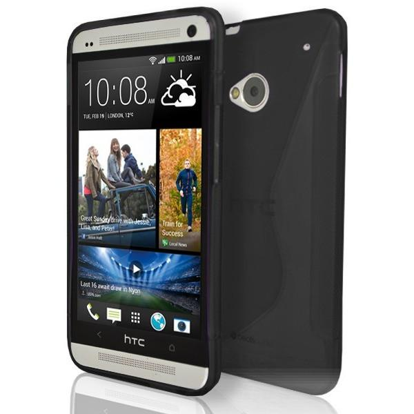HTC One M7 - S Line Gel Silicone Case - Black